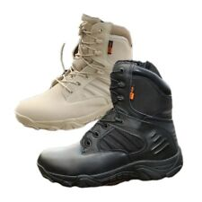Mens Outdoor Camping Hiking Shoes Military Soldiers Tactical Desert Combat Boots