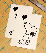 Snoopy with Heart Sticker | SET OF TWO | Snoopy Heart Decal