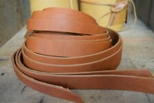 """50"""" LONG OIL TANNED SADDLE TAN 3.9mm THICK REAL LEATHER STRAP VARIOUS WIDTH"""