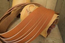 """60"""" LONG OIL TANNED SADDLE TAN 3.8mm THICK FULL GRAIN LEATHER STRAP ALL WIDTHS"""
