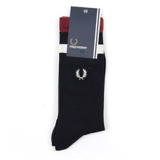 X Fred Perry Tipped Sports Socks - Navy / Port (Fred Perry Limited)