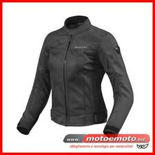 Giacca Moto Donna Estiva Rev'it Eclipse Ladies Nero Traforata FJT224 Revit