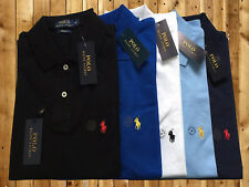 POLO RALPH LAUREN MENS GENUINE NEW CUSTOM FIT SHORT & LONG SLEEVE POLO SHIRT
