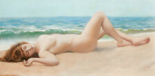 Photo/Poster - Nu Sur La Plage - John William Godward 1861 1922