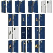 OFFICIAL STAR TREK DISCOVERY UNIFORMS LEATHER BOOK CASE FOR APPLE iPHONE PHONES
