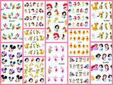 PRINCIPESSE DISNEY MICKEY MINNIE NAIL ART Adesivo Decalcomania MANICURE ad acqua