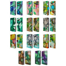 OFFICIAL HAROULITA LUSH JUNGLE INK LEATHER BOOK WALLET CASE FOR SAMSUNG PHONES 2