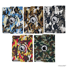 Camouflage Ipad 2/3/4 / Mini / Air/Air 2 Custodia/Cover per Apple / pelle