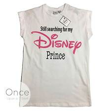 PRIMARK Ladies OFFICIAL DISNEY Still Searching for my DISNEY PRINCE T SHIRT