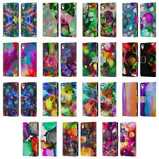 OFFICIAL HAROULITA VIVID INK LEATHER BOOK WALLET CASE COVER FOR SONY PHONES 1
