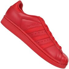 ADIDAS ORIGINALS SUPERSTAR GLOSSY TOE SNEAKER II 80s SCHUHELEDER ROT CLEAN RED