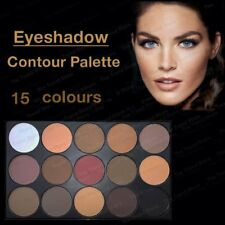 Pro 15 Colors Warm Nude Matte Shimmer Eyeshadow Palette Makeup Cosmetic lIGH