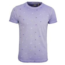 NO EXCESS T SHIRT BLU UOMO Used Look Uccello Motivo 86350402 082