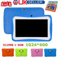 "7""KIDS 4G ANDROID TABLET QUAD CORE WIFI UK STOCK CHILD CHILDREN 1024*600 LOT VG"