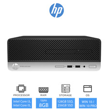 HP ProDesk 400 G4 Cheap Desktop PC, Intel Core i3 / i5, 128GB / 256GB SSD, DVDRW