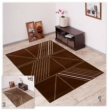 Modern Area Rug Geometric Pattern Lines New Contemporary Design Durable Carpet