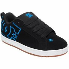 DC Shoes Court Graffik Black Blue Mens Skateboarding Low-top Trainers