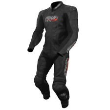 ARMR Harada S 1 Piece Motorcycle Motorbike Leather CE Approved Race Suit - Black
