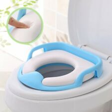 Baby Toilet Seat Safe Soft Training Seat Potty Sitting Ring With Handles
