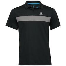 Odlo NIKKO LIGHT Poloshirt UV-Schutz, Herren Polo Shirt, Outdoor schwarz-grau