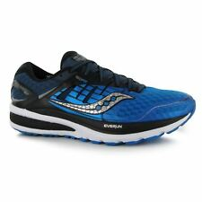Saucony Triumph ISO2 Running Shoes Mens Blue/Blk/Silv Jogging Trainers Sneakers