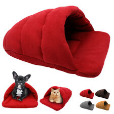 Pet Dog Cat Nesting Bed Cave Cover Puppy Soft Warm House Winter Sleeping Bag Mat