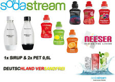 SODASTREAM 2x PET FLASCHE 0,5L + Sirup 375ml o.500ml SET versch. Sorten ⚠ 🚚0€