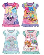 Girls Night Dress Nightie My Little Pony Shimmer & Shine Tatty Teddy Paw Patrol