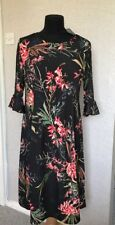 Styled By black Floral Fit And Flare Dress M 12-14, XL-20-22 uk