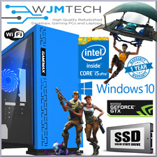 Blue Gaming PC Quad Core i5 GTX 1050 Ti 16GB Windows 10 Desktop Computer GTX