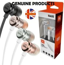 100% Genuine JBL T290 Sound Pure Bass In Ear Headphone with Mic IOS Android UK