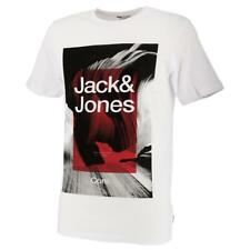 Tee shirt manches courtes Jack and jones Canyon white mc tee Blanc 55099 - Neuf