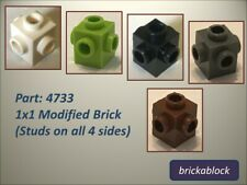 NEW Lego Part 4733 1x1 Modified Brick Choose 2,5,10,15,20,25 ALL COLS SAME PRICE