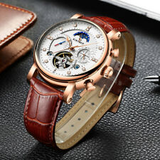 KINYUED Moon Phase Top Brand Mens Mechanical Watches Automatic