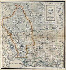 Poster Print Antique American Cities Towns States Map Napa Solano California