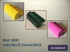 NEW Lego Part 6081 1x4x1&1/3 Curved Brick Choose 2,5,10,15 (ALL COLS SAME PRICE)