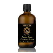 Sense ESSENTIAL & CARRIER OILS Therapeutic MASSAGE Aromatherapy BLENDED oil