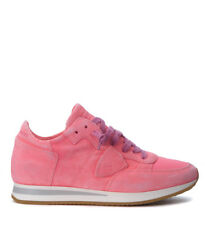 Sneaker Philippe Model Tropez in camoscio fucsia