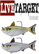 "Livetarget Gizzard Shad Swimbait 4 1/2"" Select Colors Bass Fishing Lure Bait"