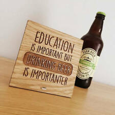 Education Important Drinking Beer Is Importanter Unique Gift Craft Beer Lover