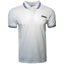 LAMBRETTA CLOTHING MENS TWIN TIP POLO SHIRT WHITE/NAVY/BLUE, NEW! MOD-SKINHEAD