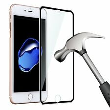 3D Curved Metal Edge Tempered Glass Screen Protector Full Cover for iPhone 8 7 6