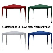 3x3m Pop Up Marquee Gazebo Tent Garden Party Waterproof Canopy Shelter Carry Bag
