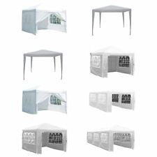 Gazebo Party Tent Marquee Garden Outdoor Canopy Waterproof Pop Up Sides White