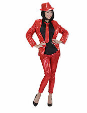 Legging rouge à sequins adulte Cod.239745