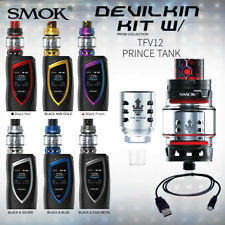 AUTHENTIC SMOK DEVILKIN 225W TC STARTER KIT W/ TFV12 PRINCE TANK  SAME-DAY SHIP