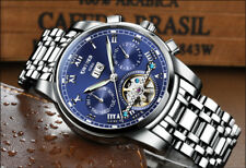 KINYUED Classic Men Mechanical Watch Wristwatch Sapphire Stainless Steel Relogio