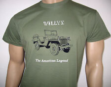 Willys Jeep T-SHIRT - 'the American Legend' MA modello - MB M38 M38A1 esercito