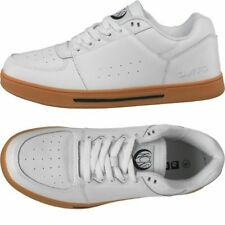 DROP PRICE.DuFFS Mens KCK Leather Gum Soled Shoes White Leather upper UK7/Euro41
