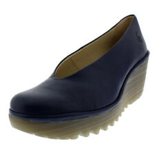 Womens Fly London Yaz Mousse Leather Wedge Heel Work Summer Casual Shoes UK 3-9